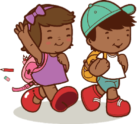 walking clipart student walk african american clipground