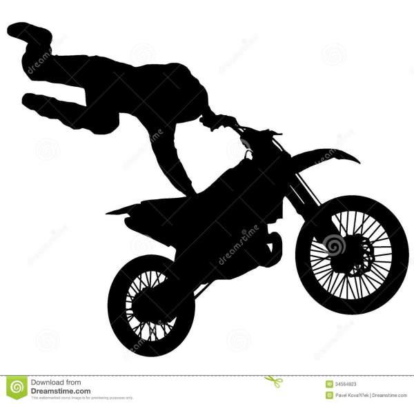 Motorcycle Dirt Bike Silhouette