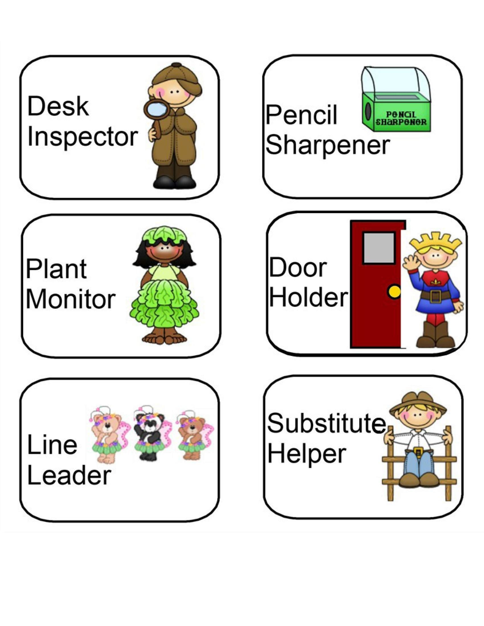 Substitute Student Helper Clipart
