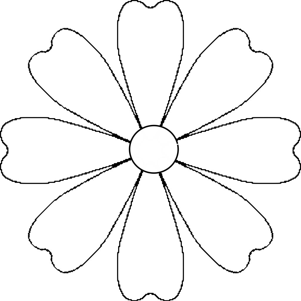 Sunflower Petals Clipart Outline