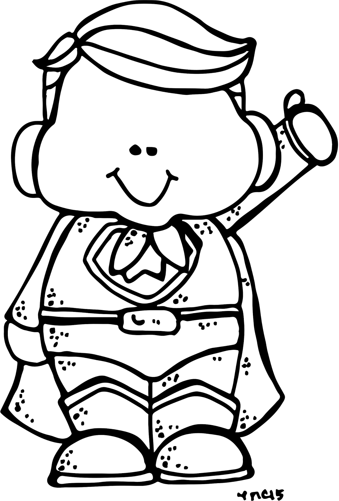 Super Hero Clipart Black And White