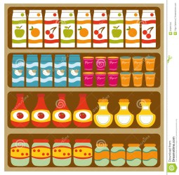 clipart supermarket shelves grocery illustration clip groceries food clipground