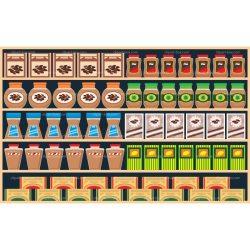 shelves clipart shelf supermarket cartoon library cliparts clip clipground illustration