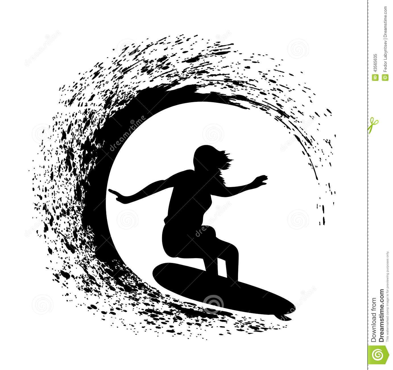 Surfer Clipart Vector