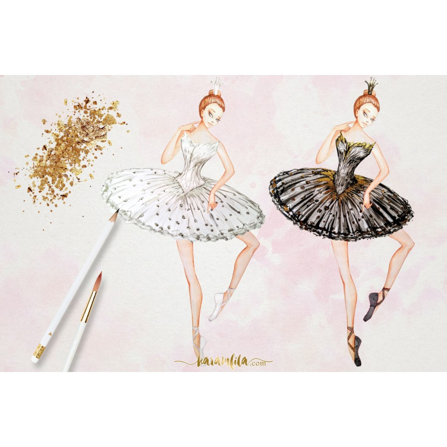hight resolution of ballet swan lake clipart