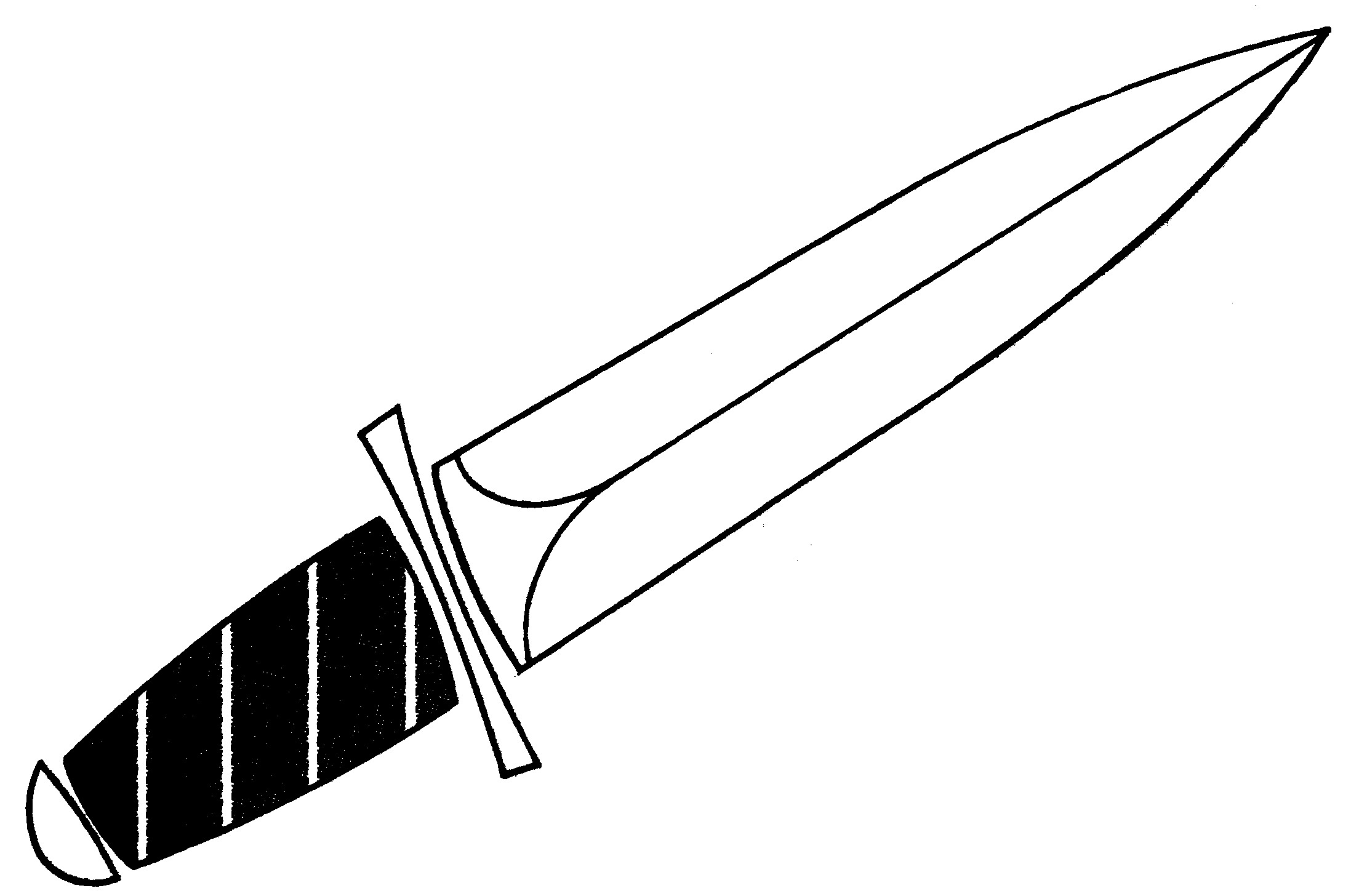 Sword Outline Clipart