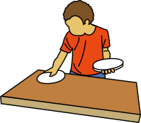 Table set clipart
