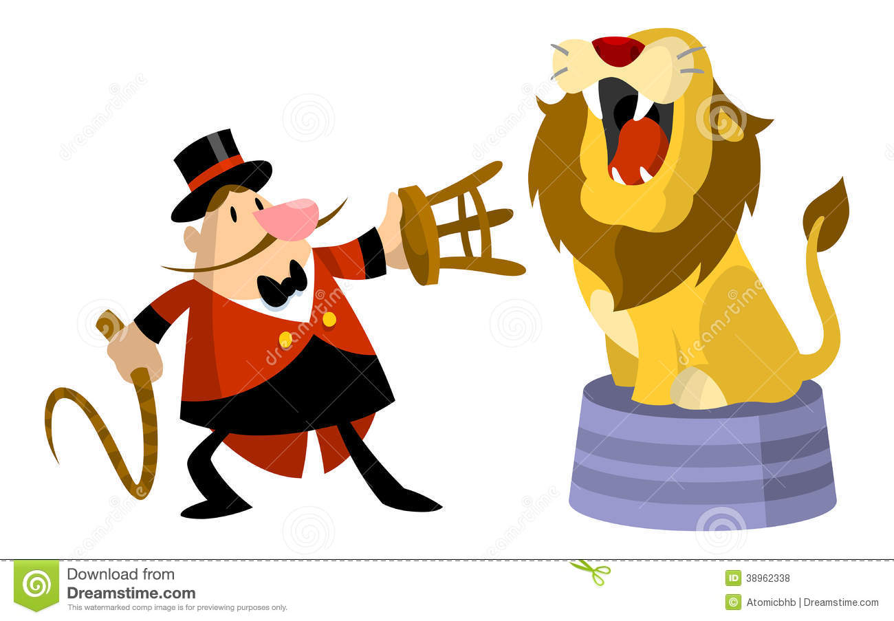 hight resolution of lion tamer clipart