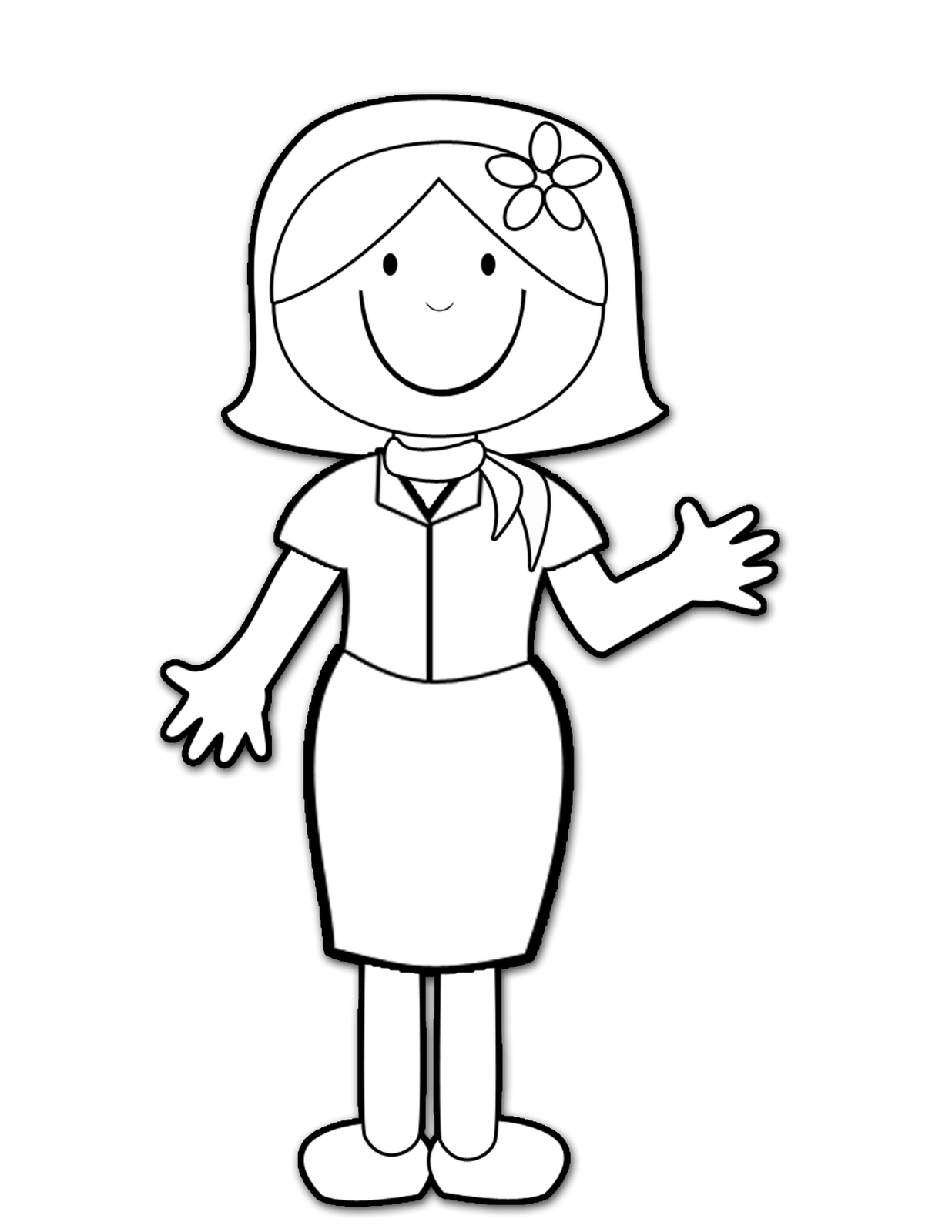 teacher talking to student clipart black and white
