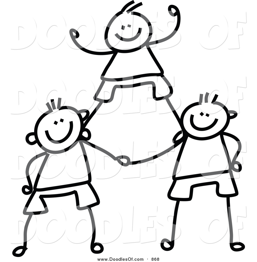 Teamwork Clipart Black And White