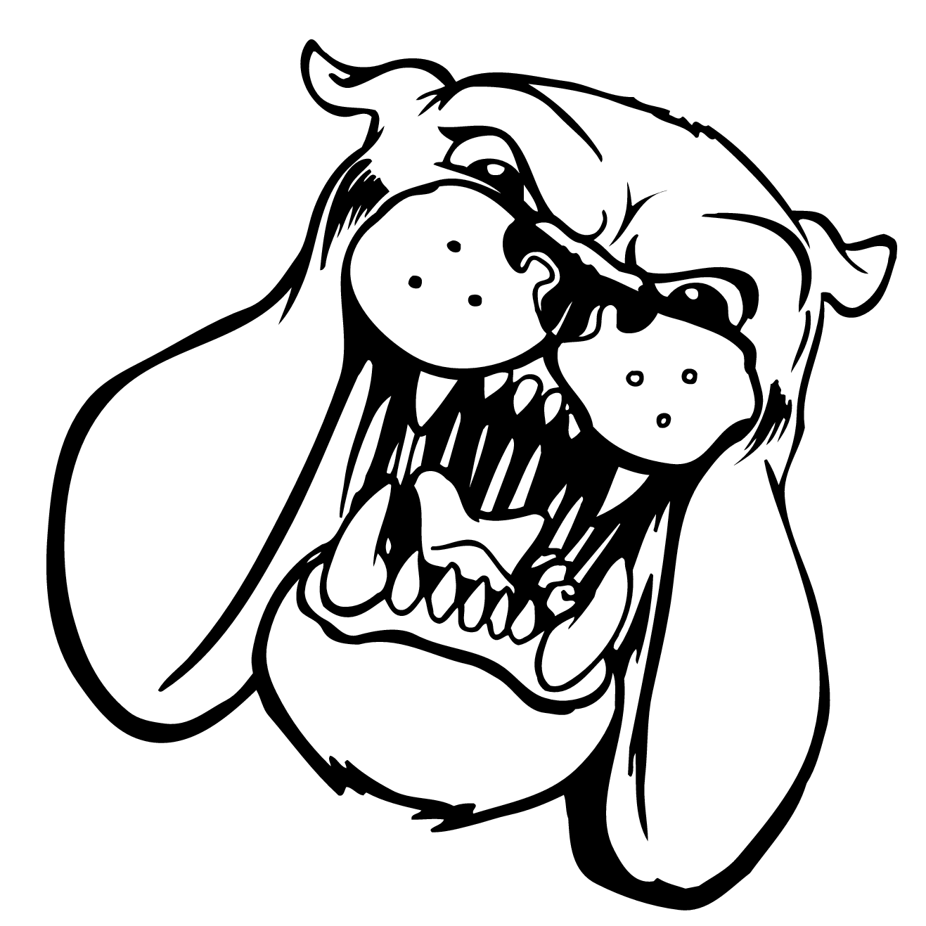 Bulldog Outline Clipart