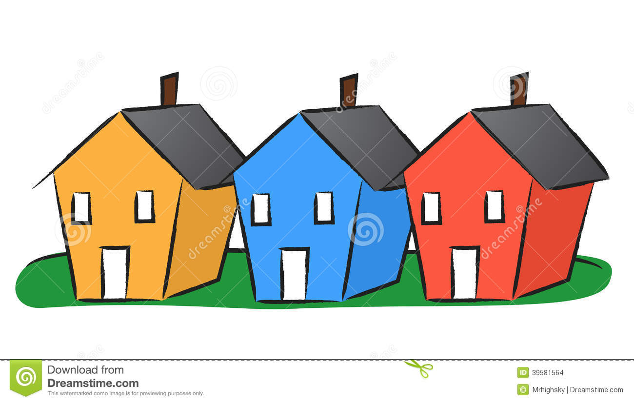 Three Houses Clipart