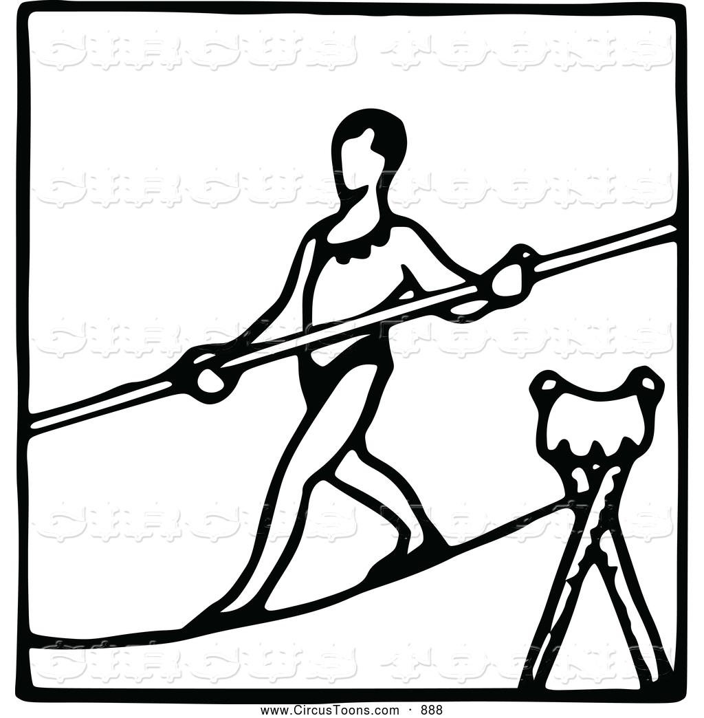 Tightrope Walk Clipart