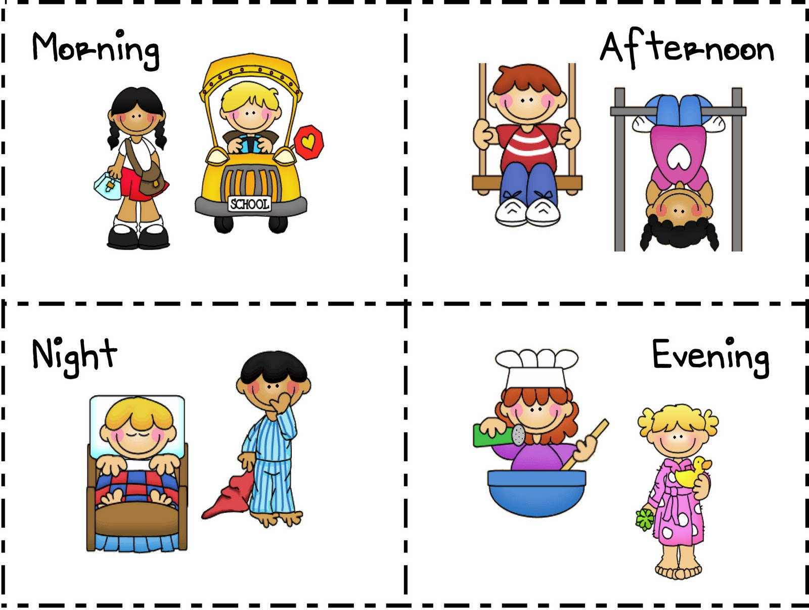 Clipart Of Day Times