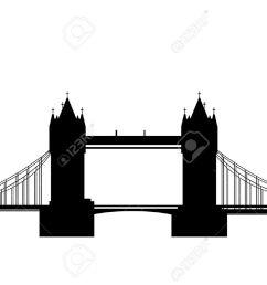 london bridge silhouette clipart  [ 1300 x 919 Pixel ]