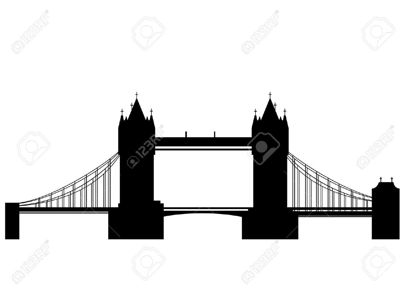hight resolution of london bridge silhouette clipart