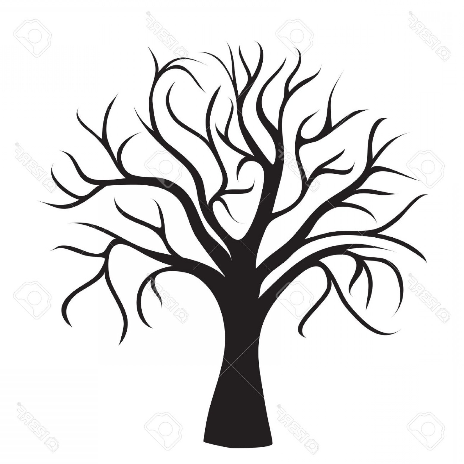 Tree Without Leaves Clipart Black And White 10 Free