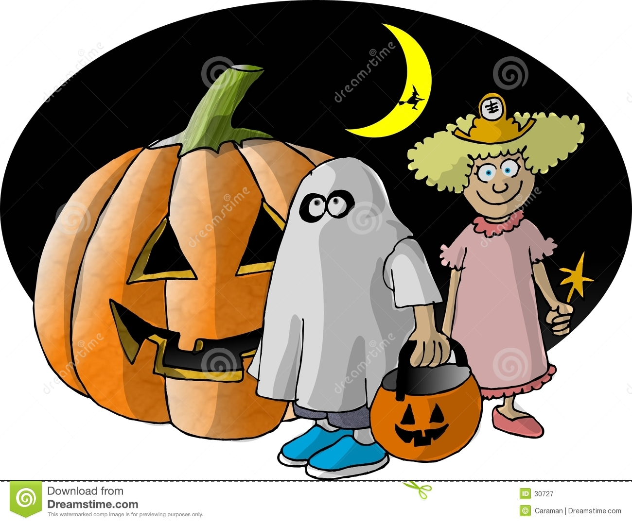 hight resolution of trick treaters stock illustrations