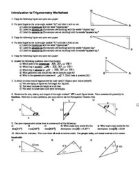 trigonometry worksheets - Clipground