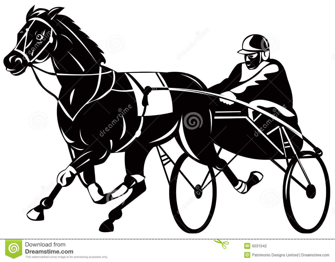 hight resolution of harness racing clipart trotter stock illustrations