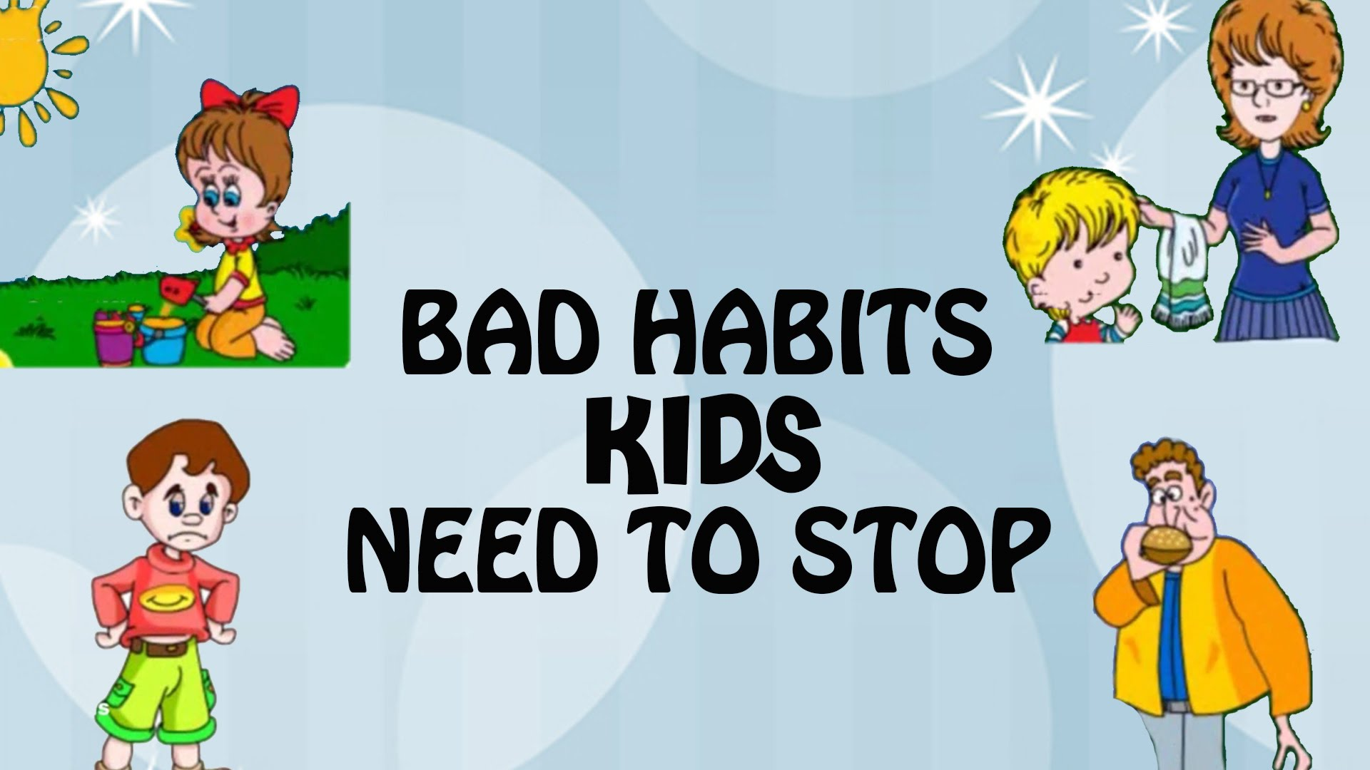 Unhealthy Habits For Kids Clipart
