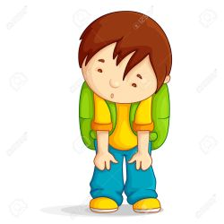 boy clipart student upset sad bag depressed vector clip clipground kid skipping royalty clipartmag help illustration