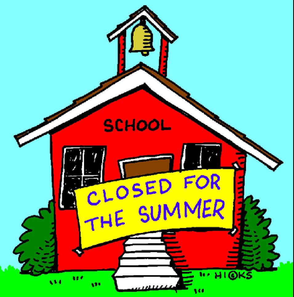 medium resolution of school closed summer vacation clipart