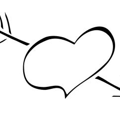 free black and white clipart heart  [ 1111 x 833 Pixel ]
