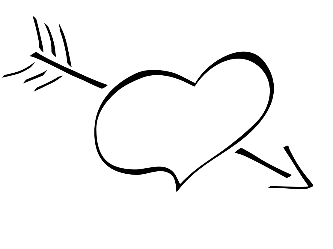 hight resolution of free black and white clipart heart