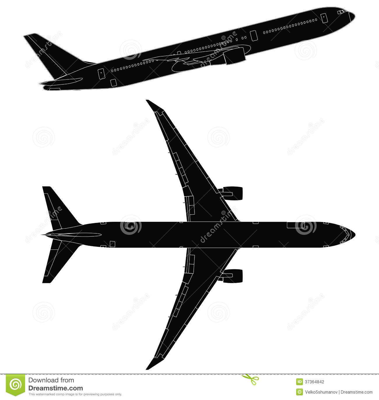 hight resolution of airplane clipart side view