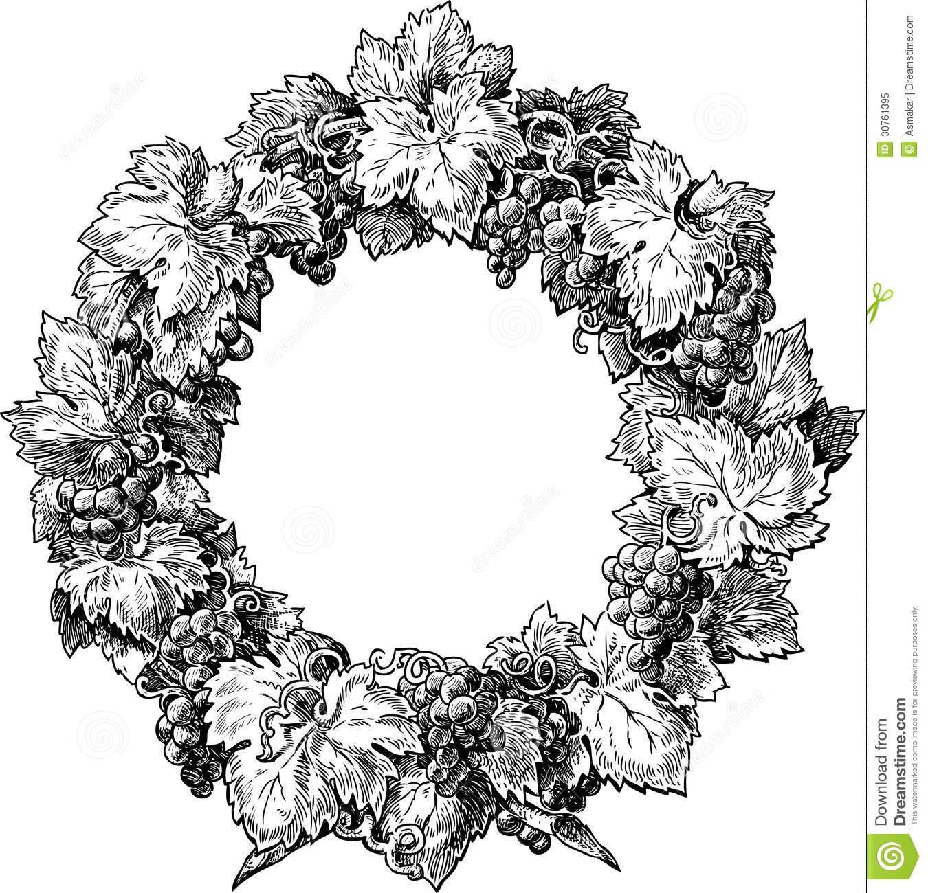 Vine Wreath Clipart Images