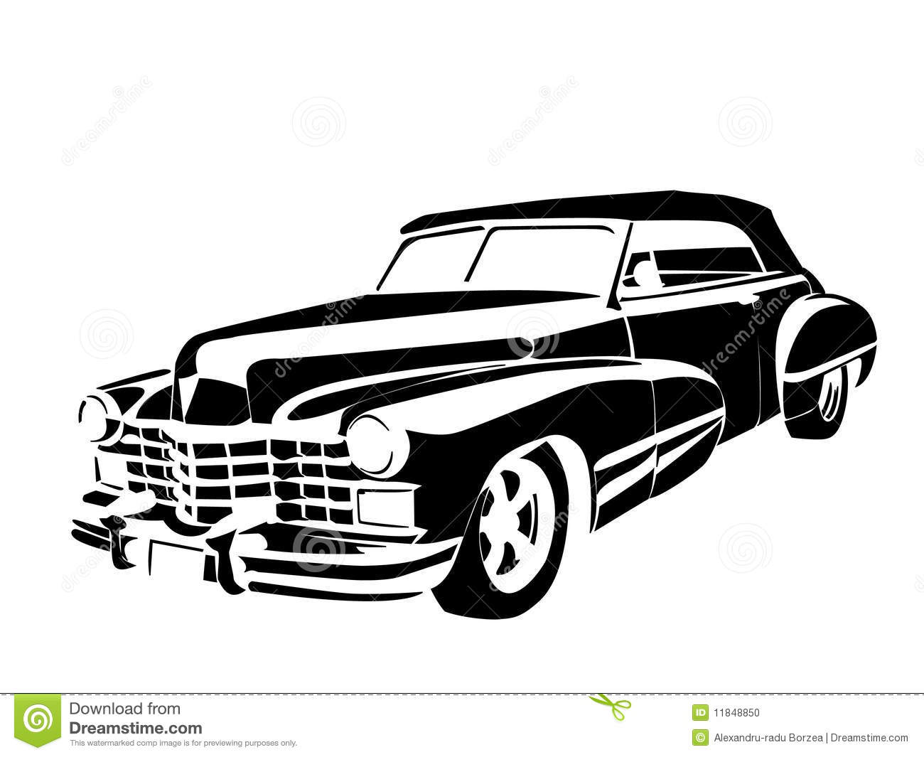 Classic Car Black And White Clipart 20 Free Cliparts