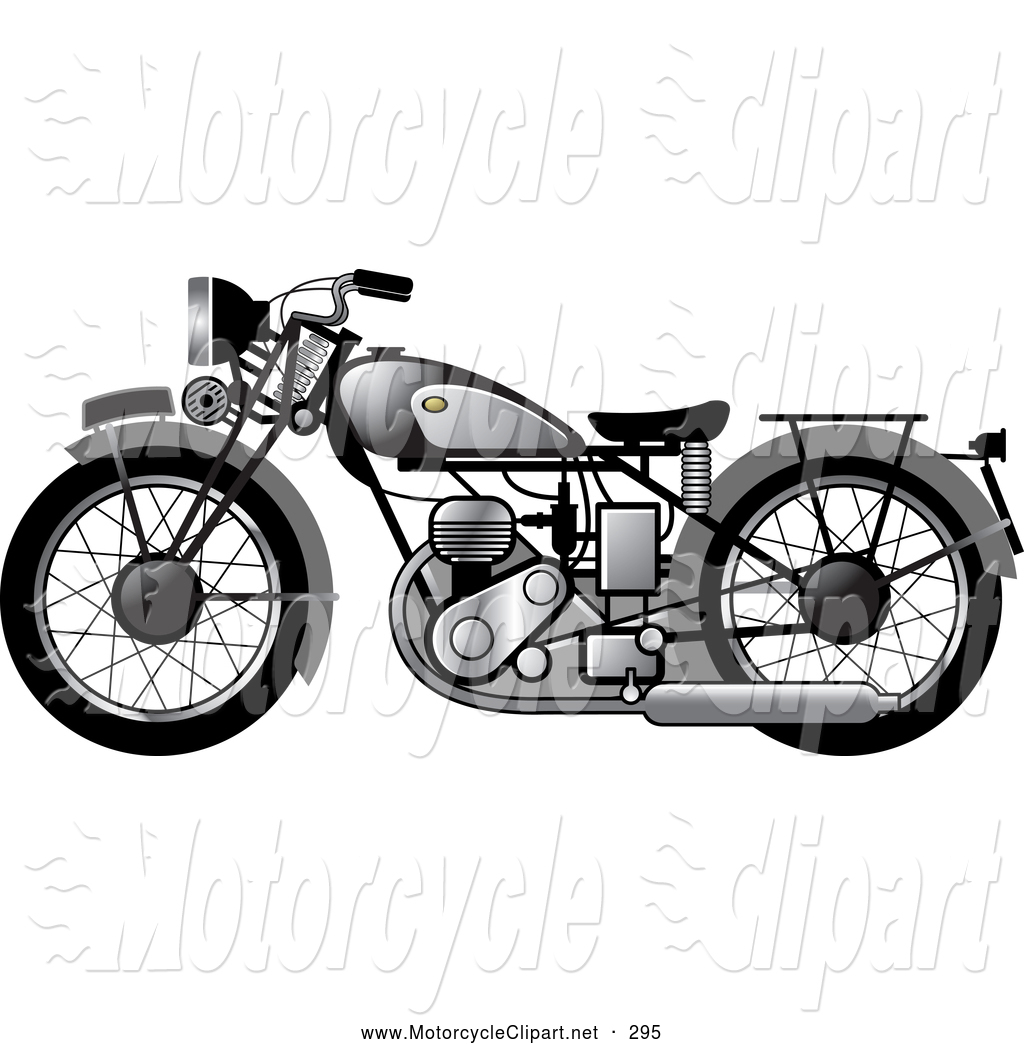 Vintage Motorcycle Clipart