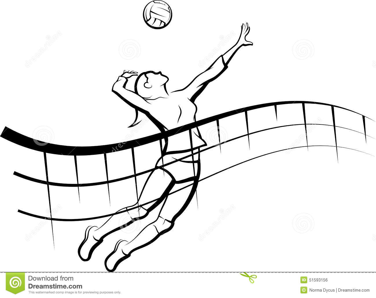 Volleyball With Net Clipart
