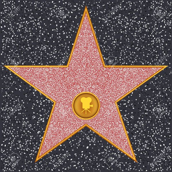 Hollywood Walk of Fame Star Clip Art