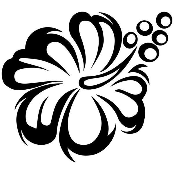 flowers arrangements clipart black