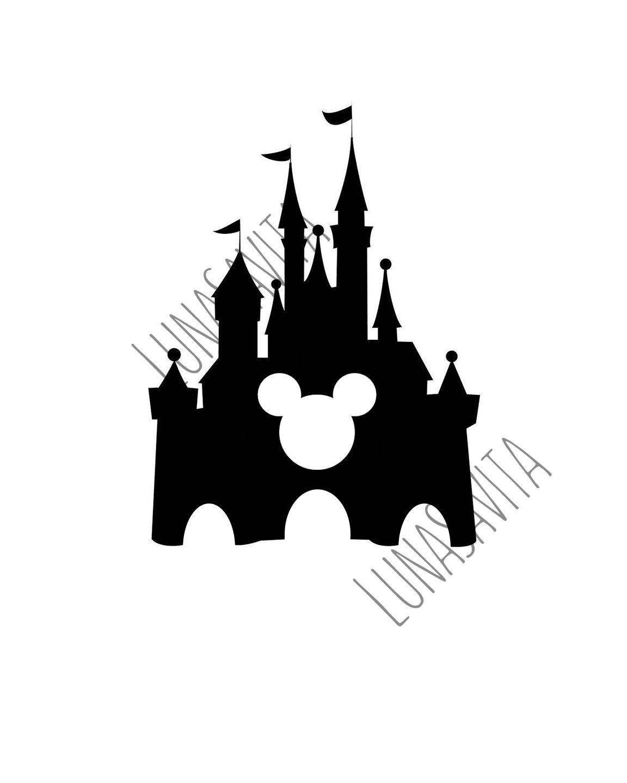 Walt Disney World Castle Clipart Silhouette 20 Free