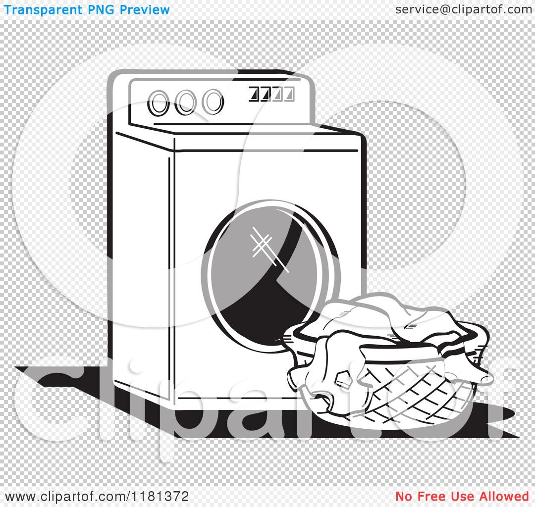 Washing Machine Clipart Black And White