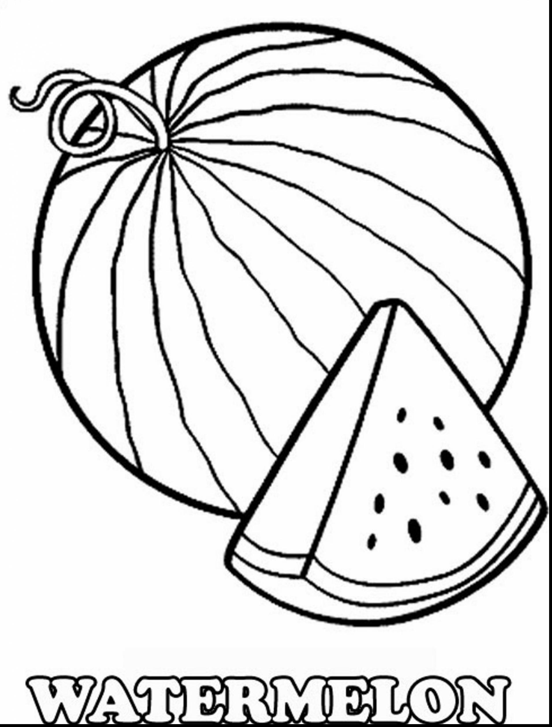 Water Melon Clipart Black And White