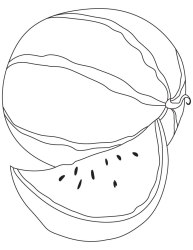 watermelon clipart coloring cute clipground face