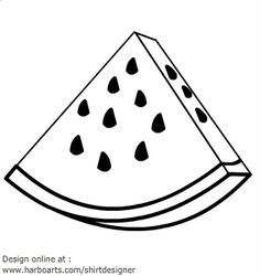 watermelon clipart fruit coloring clip slice drawing fruits pages vector watermellon drawings fun cliparts vegetables summer clipground library cool pix