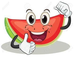 watermelon clipart clip vector background cartoon illustration melon anguria space illustrations royalty shutterstock clipground fotosearch foto vectors slice funny bit