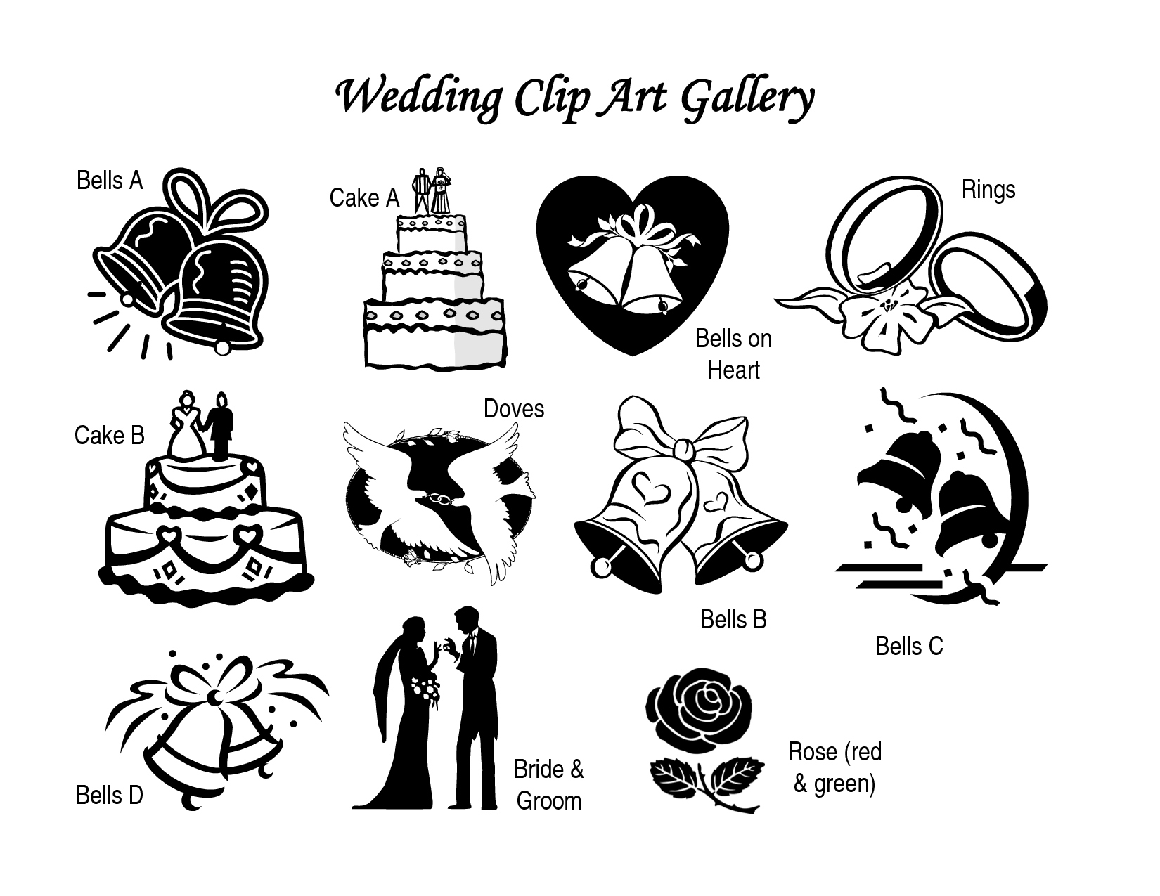 Wedding Couple Tractor Clipart