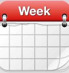 weekly calendar clipart [ 1024 x 1024 Pixel ]