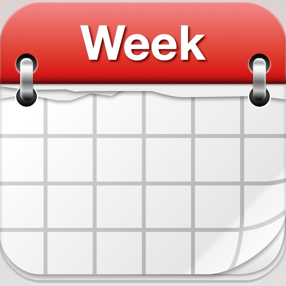 medium resolution of weekly calendar clipart