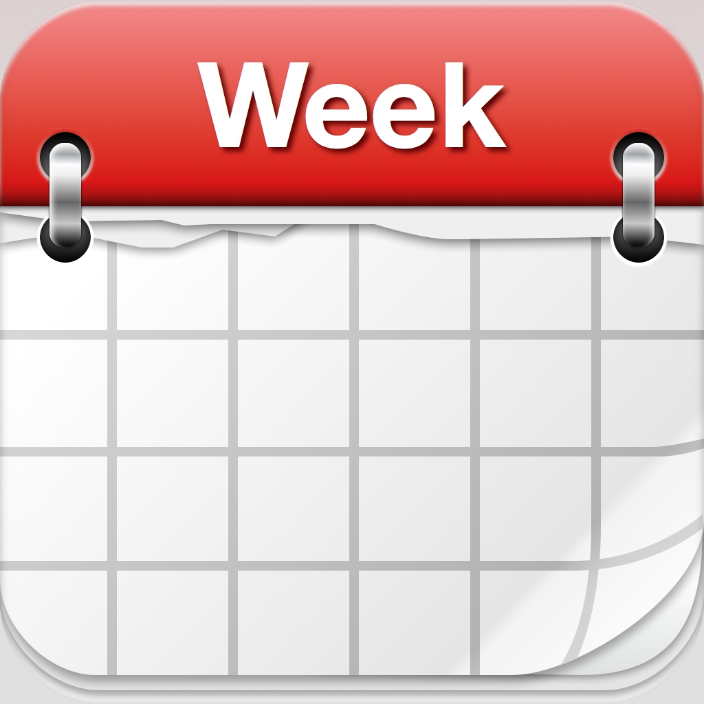 hight resolution of weekly calendar clipart