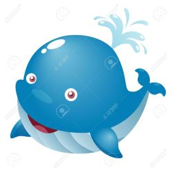 whale cute cartoon clipart illustration vector ballena azul whales fish animales una clipground dibujos imagen ilustracion killer para animados vectors