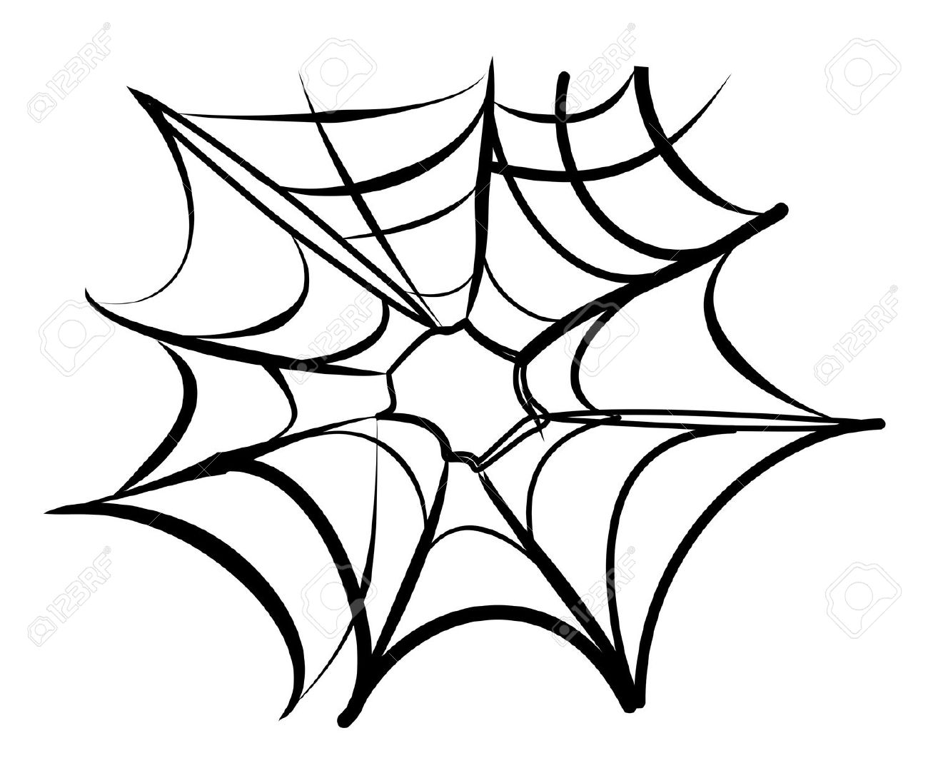 Wheel Web Spiders Clipart