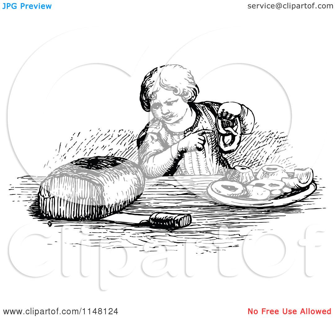White Bread Pastries Clipart