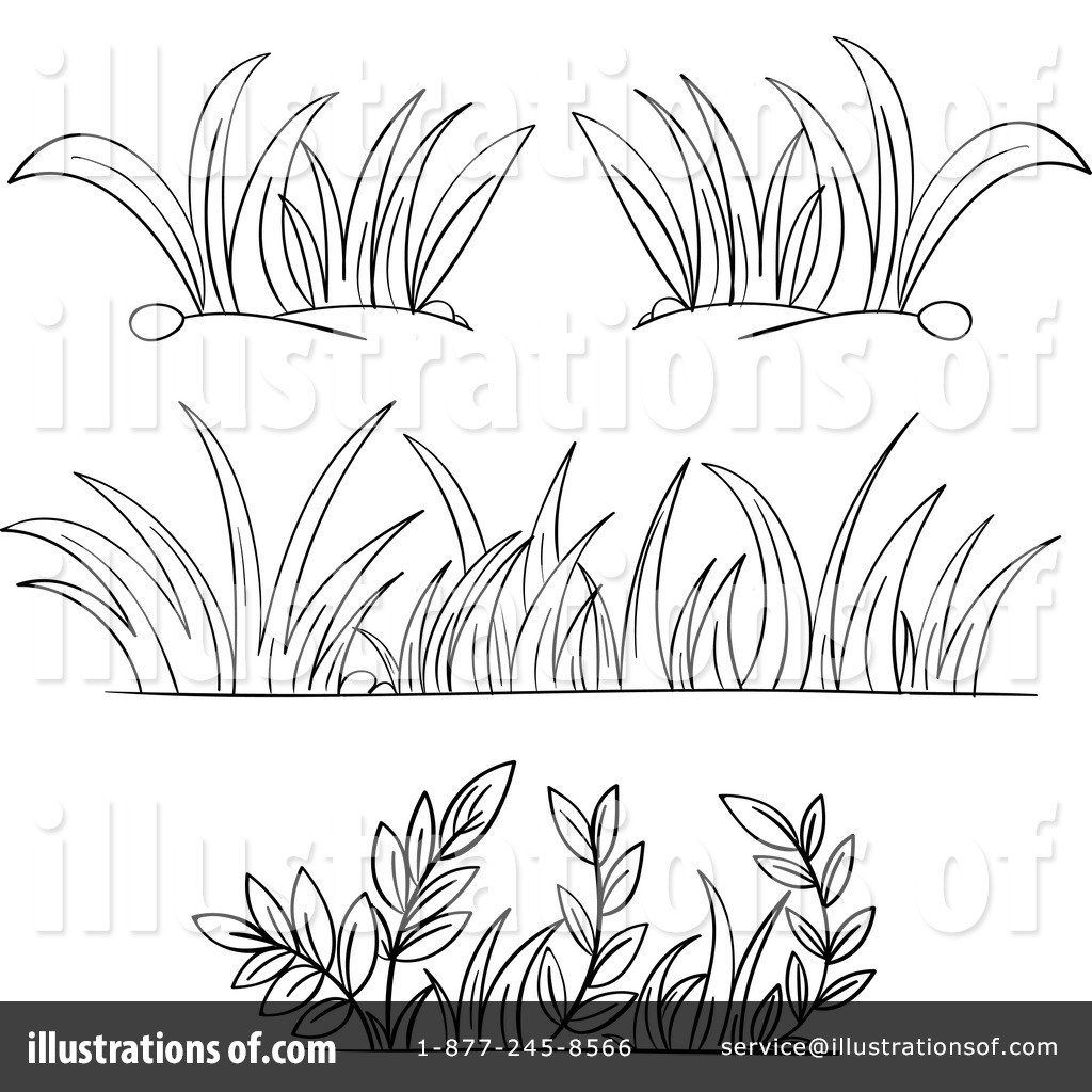 hight resolution of grass clip art black and white
